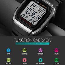 SKMEI 5ATM Sport Army Alarm Date analogique montre-bracelet numérique à LED
