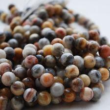 Grade A Natural Crazy Dentelle Agate Gemme Perles Rondes - 4 mm 6 mm 8 mm 10 mm