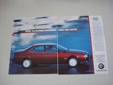 advertising Pubblicità 1991 ALFA ROMEO 164 V6 TURBO