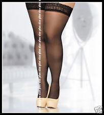 sheer lace stockings Hold Ups plus large size 4XL 5XL UK 14 16 18 EU 46 48 50
