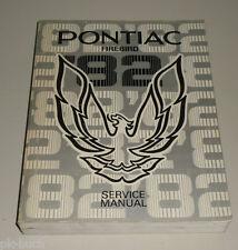 Werkstatthandbuch / Shop Manual Pontiac Firebird Stand 1982