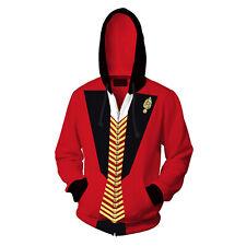 Unisex The Greatest Showman P.T. Barnum Costume Sweater Zipper Jacket Hoodie