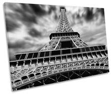 Eiffel Tower Black and White Framed SINGLE CANVAS PRINT Wall Art