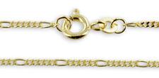 Neu 333 Echt Gold Figarokette Kette 38cm bis 45cm