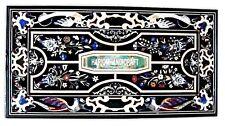 Marble Dining Table Set Gemstone Pietradura With Mosaic Inlaid Decoration H4016