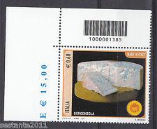 ITALIA 2011 FORMAGGI GORGONZOLA CODICE A BARRE 1385 MNH** 158 ANGOLO LEGGI TESTO