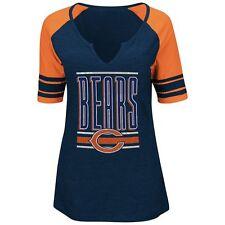 BNWT Majestic Chicago Bears Women's Ladies Slit Neck Shirt (S) T-Shirt Jersey