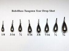 Bob4Bass Tungsten Tear Drop Shot Weights 5 in a Pack
