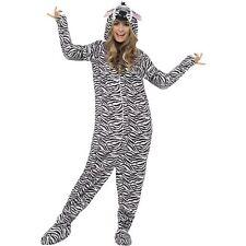Zebra Jumpsuit Zoo Wild Horse Adult Animal Mens Fancy Dress Costume