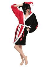 DC Comics Batman Women's Harley Quinn Hooded Fleece Robe S/M & L/XL NWT!