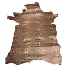 Calf Skin Leather Hides Brown Snakeskin Thick Genuine Lambskin Hide Material 961