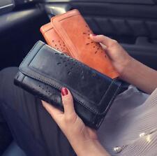 Women Lady Hollow Leather Clutch Wallet Long PU Card Holder Purse Handbag