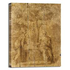 Michelangelo Cristo e la donna quadro stampa tela dipinto telaio arredo casa
