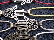KARMASTRING thick string tie on large MENS HAMSA HAND bracelet or UK SELLER