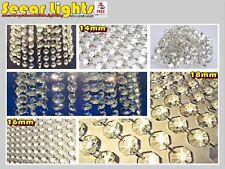 3 Tamaños De Araña Luz Cristales De Gotas De Perlas De Vidrio Boda gotas Prisma Piezas