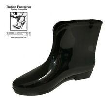 RABEN RABEN GUMBOOTS/WELLIES/RAINBOOT SHORT BLACK DOLLY