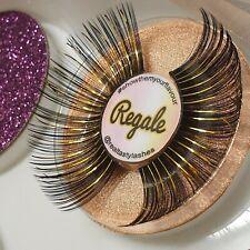 Real Tasty Lashes ✨ Regale LONG GOLD EYELASH HALLOWEEN COSTUME CARNIVAL FESTIVAL