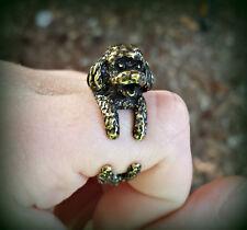 Labradoodle Ring - Adjustable Wrap Dog Ring - Black Golden Silver Doodle Animal