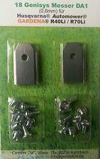Messer Ersatzmesser 0,6mm & Schrauben Mähroboter Gardena® R40Li R70Li 6 Set