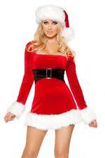 de Noël robe costume choix taille NEUF S/M M/L stretch velours X-Mas Père