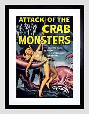MOVIE FILM ATTACK CRAB MONSTERS SCI FI MONSTER HORROR FRAMED ART PRINT B12X3323