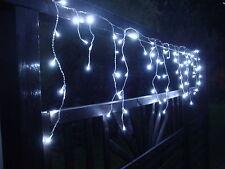 LED Eisregen-Lichterkette Beleuchtung Eiszapfen Lichterregen kaltweiss warmweiss