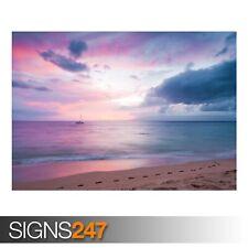 Twilight Island Beach Sunset (3239) Plage Poster-Poster print ART A1 A2 A3 A4