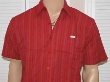Ecko Unltd Striped Short Sleeve Shirt Red NWOT