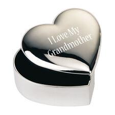 Silver JEWELLERY TRINKET BOX GIFT I love My Grandmother