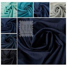 100% Silk Blue Plain Quality Fabric Dress Lining Bridal Craft Wedding Upholstery