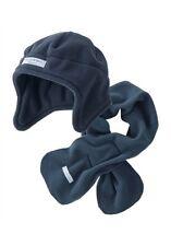 Klitzeklein Mütze und Schal im Set warmes Fleece in blau Gr. 2 oder 3  Neu