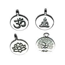 Bulk! Tibetan Silver Tree Of Life/Lotus/Buddha Yoga/Ohm Aum Symbol Charm Pendant