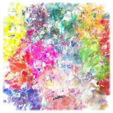 12g Bolsa irredescent Brillo Copos de uñas de Mylar, Baba Craft Decoración Arte Hazlo tú mismo