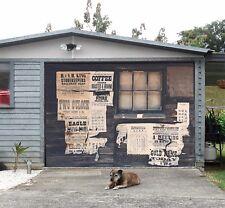 3D Window Newspaper  53 Garage Door Murals Wall Print Wall AJ WALLPAPER UK Lemon