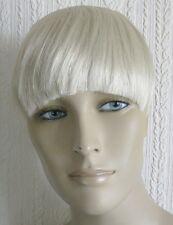 light pale blonde clip in on fake fringe bangs hair extension fancy dress