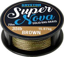 0,70 EUR / Meter KRYSTON Super Nova GRAVEL BROWN 20m 15lb/25lb/35lb Solid Bag ..