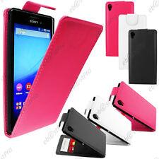 Accessoire Housse Etui Coque a Rabat Flip Simili Cuir Sony Xperia M4 Aqua / Dual