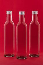 100/250/500 ml leere Weinflaschen Glasflaschen MAR Likör-Flasche Saft Deckel neu