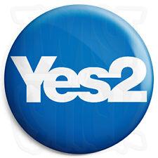 Yes 2 Scottish Referendum, Scots Independence Button Badge, Fridge Magnet Option