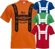 Oktoberfest Lederhose Herren T-Shirt Volksfest Wiesn Bierzelt Gruppen Fun Kirmes