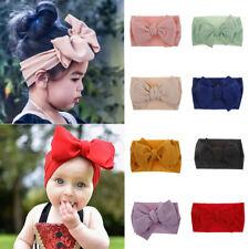 7'' Big Bows Texture Top Knot Girl Kids Cute Wide Headband Hair Band Headwrap CA