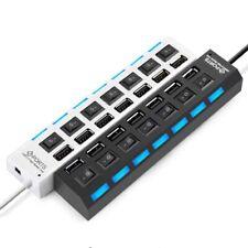 Concentrador USB 2.0 Soporte ON / OFF Interruptor Independiente for Laptop PC