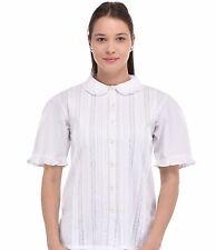 Plus Size White Cotton Peter Pan Collar Blouse | Cotton Lane