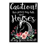 Printed Talk About Horses Sticker - Portrait Sticker - Portrait