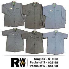 2a6f97483a683e Red Kap Work Shirts Cotton 2 Pocket Light Colors Short Long Sleeve Men's  Uniform