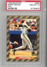 1992 Bowman  Barry Bonds Foil Card (#590) PSA10 PSA