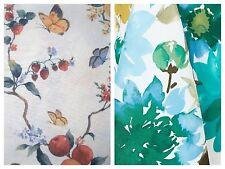 VERANDA Floral & PAPILLON Butterfly Fruit Indoor Outdoor Fabric Tablecloth  NIP