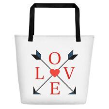 Love Beach Bag with hearts