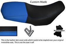 BLACK AND LIGHT BLUE CUSTOM FITS YAMAHA XT 660 Z XTZ 08-13 LEATHER SEAT COVER