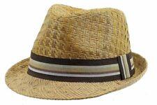 Henschel Men s 3094 Toyo Straw Basket Weave Raffia Fedora Hat 84c97d004b08